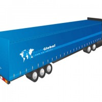 High-cube semitrailer/Mega trailer